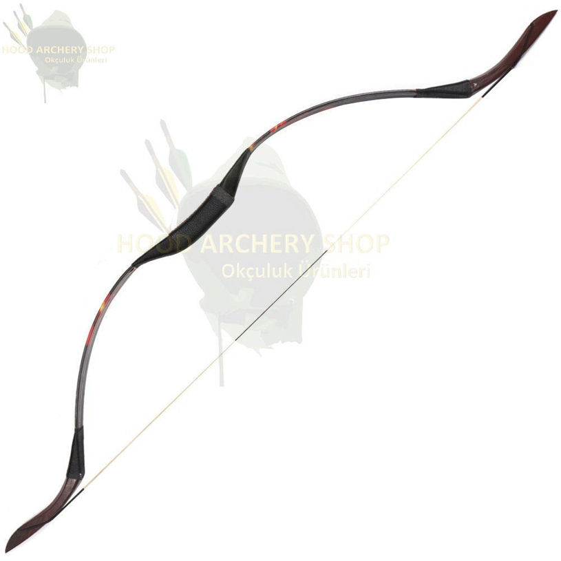 Resim 30-50 lbs Medieval Recurve Traditional Wooden Hunting Archery Bow with Epoxy Resin One-piece Longbow Bow Outdoor Shooting Hunger Games