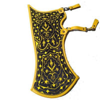 Picture of Archery Quiver Turkish Traditional Horseback Archery Hip Quiver Fabric Tirkes Motifs Knight Belt Quiver, Medieval Fantasy Red&Yellow Color