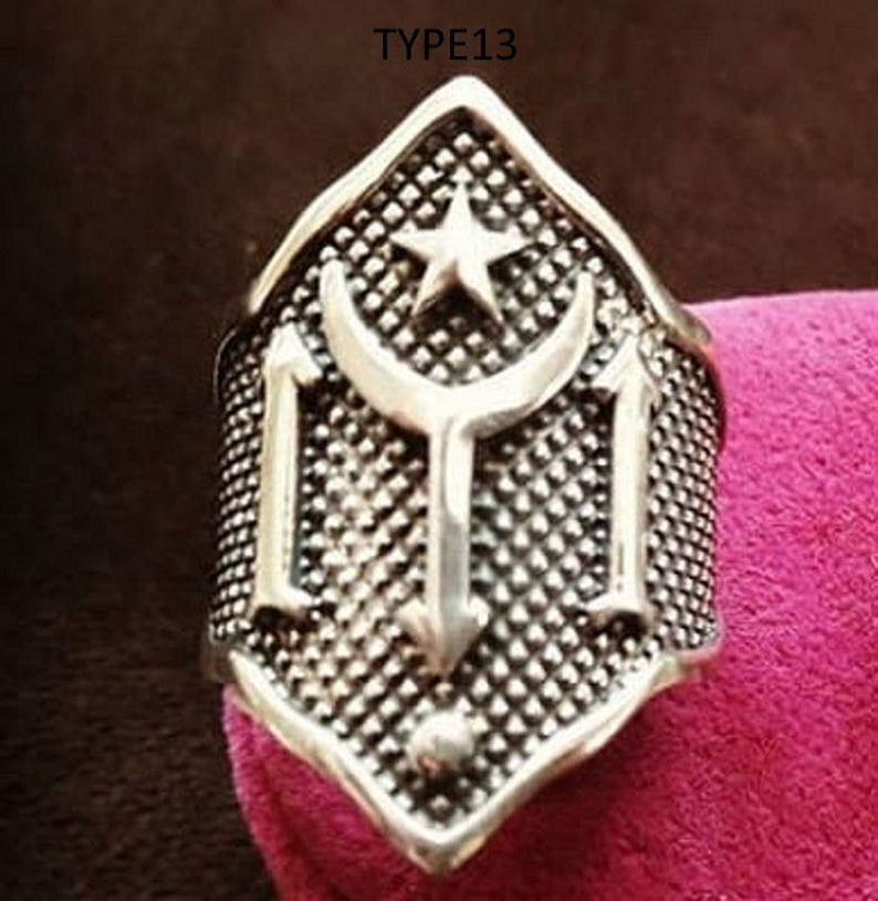 Resim Ertugrul Archery Thumbring 925 Silver Traditional Medieval Archery Thumb Finger Ring Crafting Wrist Hunting Horse