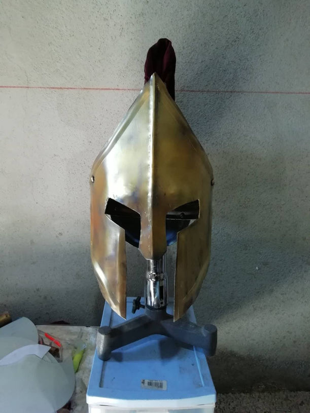 Picture of Greek Helmet Greek 300 Spartan Helmet Medieval Helmet Ancient Greece Armor Helmet Larp Helmet Cosplay Helmet Greece Antique Armor Mask