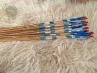 Picture of Medieval Traditional Archery Arrow For Recurve Bow Longbow Hunting Bow Shoot with Blue White Turkey Feather