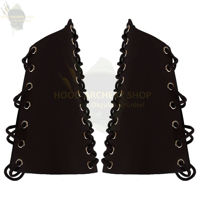 Picture of Medieval Traditional Hunting Archery Leather Bracers Armor Arm Guard Warrior Lace-up Armguard for Guard Target Longbow Recurve Bow Shoot