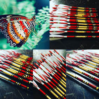 Picture of Wooden Archery Arrow For Recurve Longbow Bow Medieval Traditional Ottoman Hunting  Shoot with White Turkey Feather