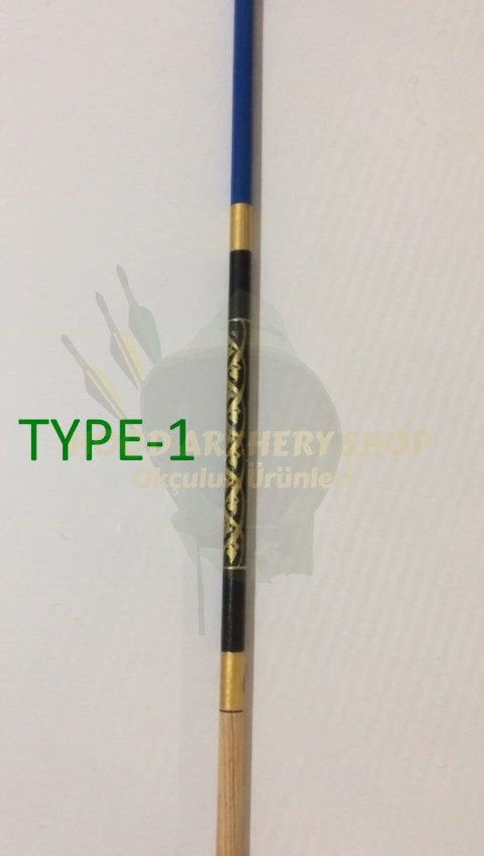 Picture of Wooden Painted Archery Arrow For Recurve Longbow Hunting Archery Bow Shoot with Turkey Feather