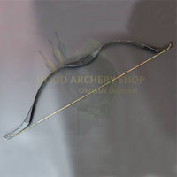 Picture of Wooden Recurve Kid Bow for Medieval Traditional Archery Children Longbow Target Archery or Hunting Archery Horse Outdoor Games Hunger Games