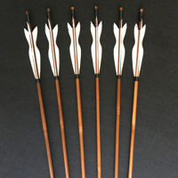 Picture of Lord Of The Rings Legolas Arrow Bamboo Wooden Arrow White Feather for Archery