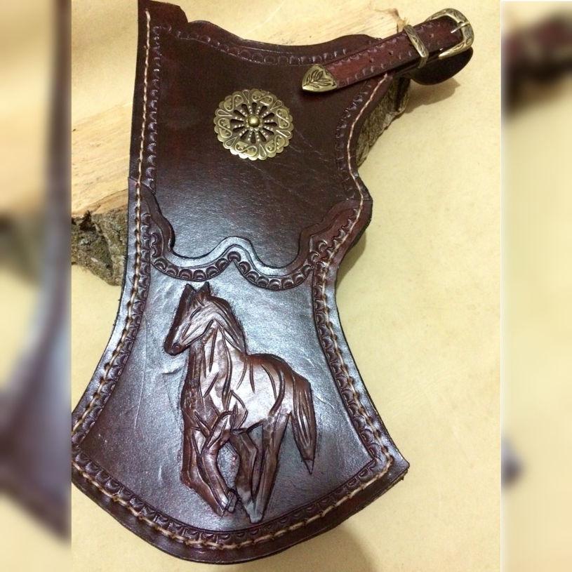 Picture of Archery Quiver Panther Motifs Horseback Archery Leather Hip Quiver Tirkes
