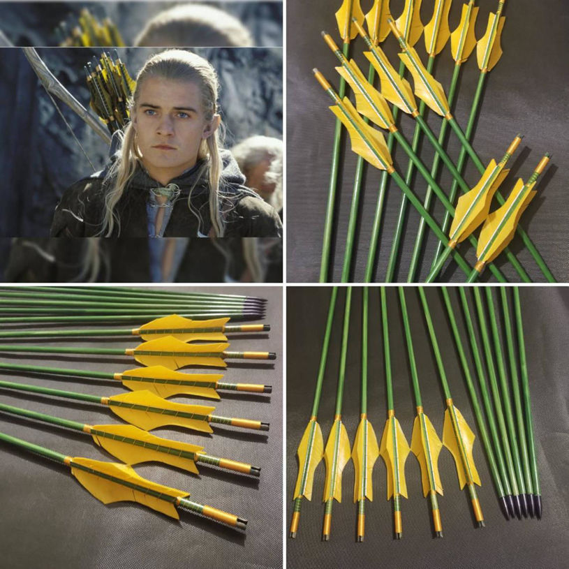 Resim Lord Of The Rings Legolas Arrow Pine Wooden Arrow for Archery  And Cosplay