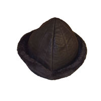 Picture of Ertugrul Alp Kayı Bork Hat Ottoman Horseback Archery Leather Hat Medieval Fantasy