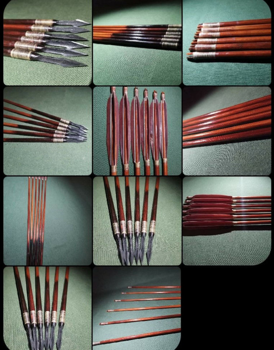 Picture of wooden  ottoman hunting arrows