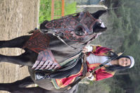 Picture of Dwarf Horse Collar Armor Costume Horse breastplate bridle headstall collar warrior horse tack wither strap barrel