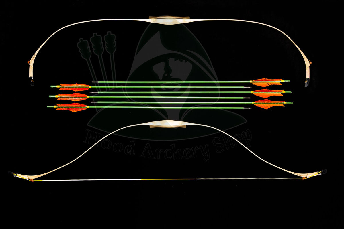 Picture of Turkish Bow Laminated Wooden Ottoman Bow Traditional Horse Bow Recurve Bow Mounted Archery Bow Target Archery Short Bow 20 - 100 pound