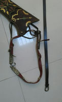 Picture of Ottoman Quiver Set like Stockholm museum Black type with Traditional Motifs Ottoman Horseback Archery Leather Hip Quiver Tirkes Knight Belt