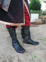 VIKING Ragnar lothbrok leather boots lamellar shoes Viking warriors shoes. ürün görseli