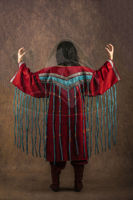 Picture of Shaman Dress Clothing Costume Accessories Drum Set Shamanic Healing Ceremonie Larp Costume Red design