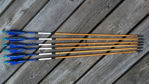 Picture of Blue/black wooden arrows with castle nocks