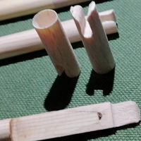 Picture of Wooden Self Nock Wooden Arrow Nock For Target Archery Mounted Archery