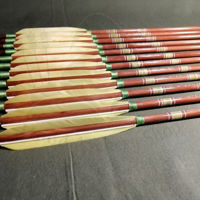 Wooden Barrelled Crested Arrows Archery Personalized Arrow For Recurve Bow Longbow Medieval Traditional Ottoman Hunting Shoot with Yellow Ottoman Turkey Feather. ürün görseli